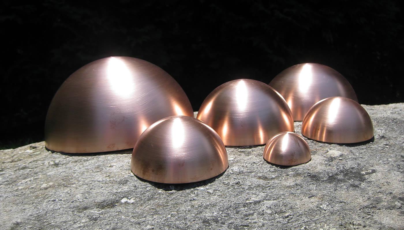 Copper Half Balls/Hemispheres